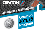 CREATON JÓTETŐ Program